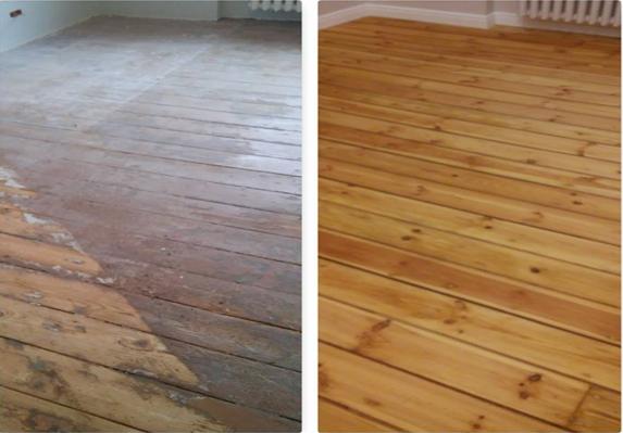 Krāsotas grīdas atjaunošana, grīdas remonts un slīpēšana.